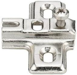 Support M/étallique Nickel/é pour Porte dArmoire Metalla Mini Fermeture Progressive Gedotec Charni/ère Porte Verre Meuble Angle Ouverture /à 95/° 10 Pi/èces Vitrine Placard de Cuisine