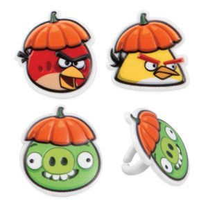 (Fall Theme Angry Birds Cupcake Rings - 12)