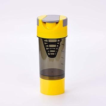 Fitness shaker botella de batido de proteína de suero ...