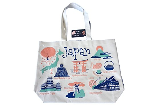 Japan Souvenirs Tote Bag - Unique Picture Sight seeing - impoted (Japan)