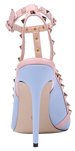 Scarpe Da Donna Con Tacco A Spillo Monocolore Scarpe Con Punta A Punta Scarpe Blu Chiaro