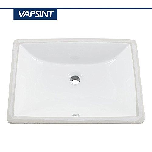 Undermount White Ceramic Sink - 7
