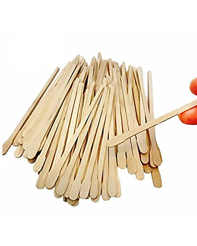 (DoTebpa 500Pcs Smooth Wax Applicator Sticks Wood Spatulas Applicator for Hair Eyebrow Removal,3.5 inches )