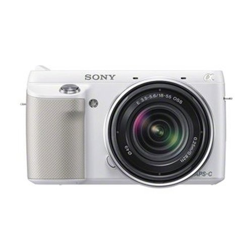 Sony Alpha NEX-F3K/W Compact Digital Camera w/ SEL-1855 F3.5 - 5.6 Lens - White