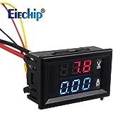 """Eiechip 0.28""""LED Digital Voltmeter Ammeter DC 100V 10A Blue Red LED Amp Dual Digital display Volt Meter Gauge Car Current Monitor Tester"""