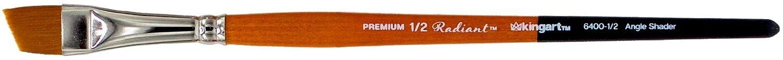 Orange Black KINGART 6400-1//2 TAKLON Angular SAHDER Paint Brush 1//2 Silver