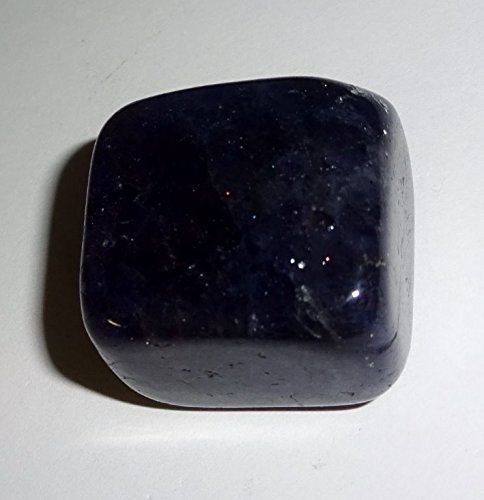 Blue Iolite Gem (1pc #2 Iolite Tumbled & Polished Gemstone Crystal Healing Collectible, Pocket or Wrapping Stone)