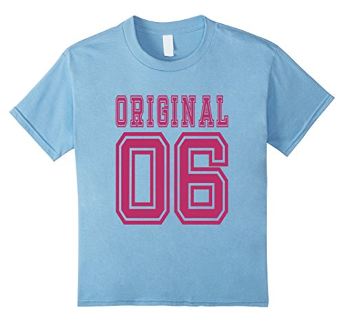 Kids 2006 T-shirt 11th Birthday Gift 11 Year Old Girl B-day Cute 12 Baby Blue