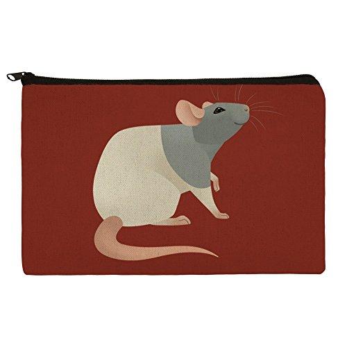 Hooded Rat Pencil Pen Organizer Zipper Pouch Case -