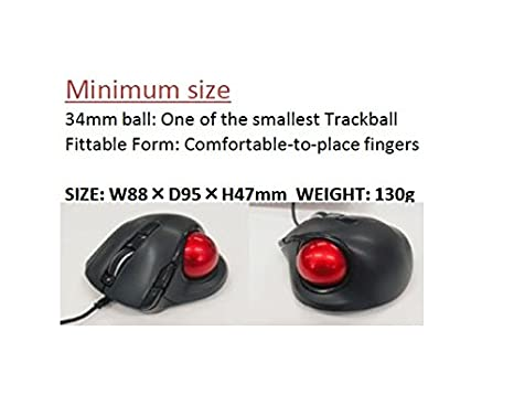 Pink Nakabayashi Co,Ltd Digio2 Bluetooth Wireless Trackball for Window PC and Mac and Android