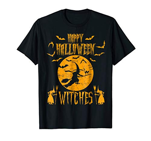 Witches Happy Halloween Vintage Retro T-shirts