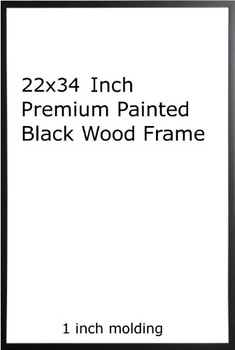 Nine(9) Wood Painted Black Poster Frame 22x34 or 34 x 22 by Generic