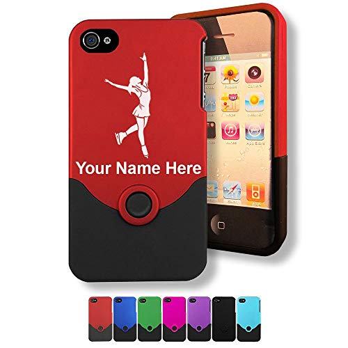 Case for iPhone 4/4s, Figure Skater, Personalized Engraving Included (Iphone 4s Ice Skating Case)