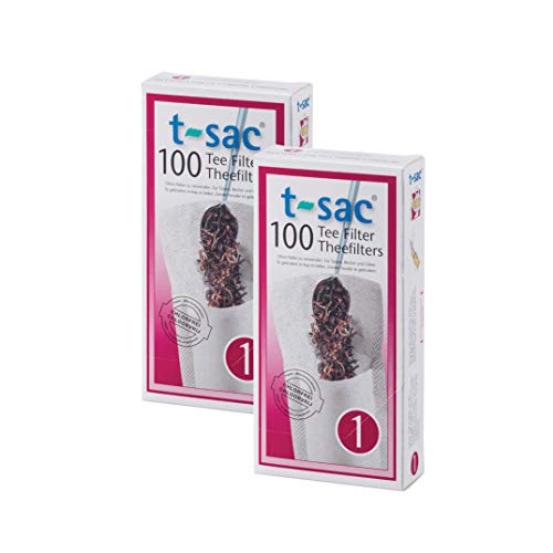 T-Sac Tea Filter Bags, Disposable Tea Infuser, Number 1-Size, 1-Cup Capacity, Set of 200 (Best Way To Store Loose Tea)