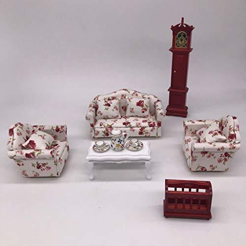 Brosco European 1/12 Dolls House Miniature Luxury Living Room Furniture Kit 11pcs from Brosco