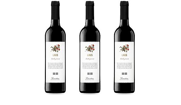 Laus Tinto Joven Vino Tinto - 3 botellas x 750ml - total: 2250 ml ...