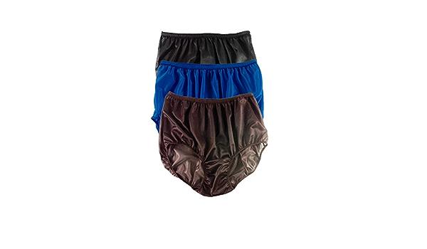 "Details about  /6 Black Biggest Underwear Woman Man Granny Panties Soft Silky Nylon Hip 42/""-52/"""