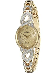 Seiko Womens Japanese Quartz Stainless Steel Watch, Color:Gold-Toned (Model: SUP342)
