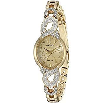 Seiko Womens Japanese Quartz Stainless Steel Watch, Color Gold-Toned (Model: SUP342)