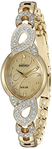 Seiko Women's Japanese Quartz Stainless Steel Watch, Color:Gold-Toned (Model: SUP342) (Watch Toned Stainless Womens Gold Seiko Steel)
