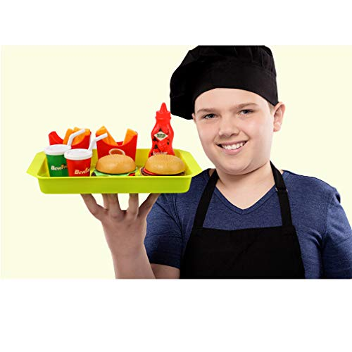 Fenteer 8 Pcs Pretend Play Food Fast Food French Fries Hamburger Set Kids/Baby Developmental Role Play Creative Toy