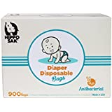 Hippo Sak Antibacterial Diaper Disposal Bags, 900 Count, white