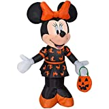 (1) Disney Mickey & Friends 3.5-ft Lighted Minnie Mouse Halloween Inflatable 220310