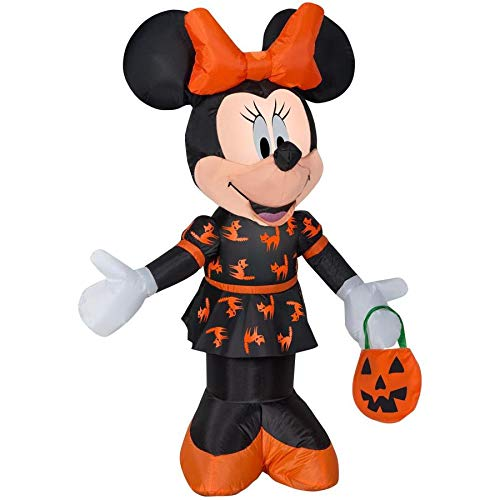 (1) Disney Mickey & Friends 3.5-ft Lighted Minnie Mouse Halloween Inflatable -