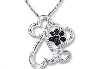 jane seymour open hearts dog paw necklace. Black Bedroom Furniture Sets. Home Design Ideas