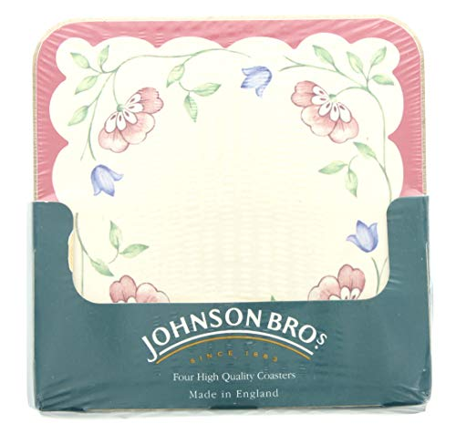 Johnson Brothers Summer Chintz Square Coasters (Set of 4)