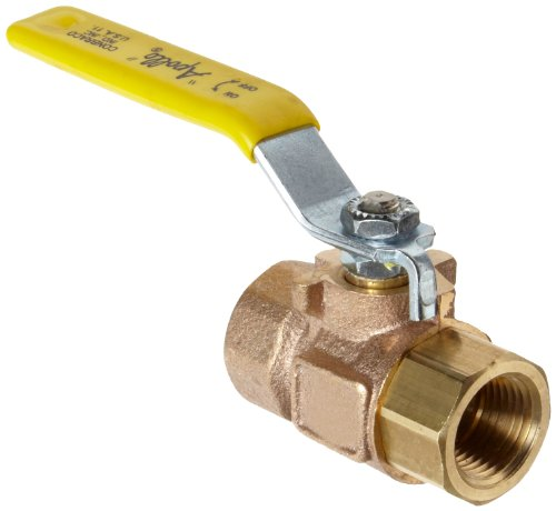Apollo 77C-140 Series Bronze Ball Valve with Stainless Steel 316 Ball and Stem, Two Piece, Inline, Lever, 1/4