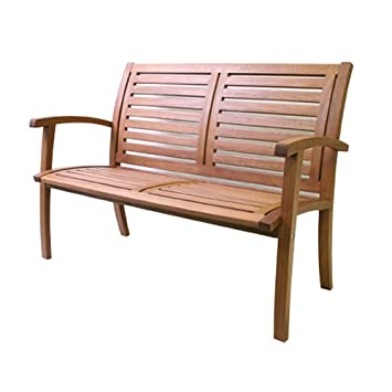 Outdoor Interiors 21440 Luxe Eucalyptus Bench