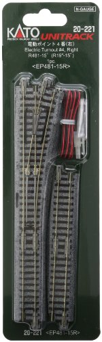 Kato N-Gauge Remote Right-Hand Turnout No.4 [20-221] (Japan Import)