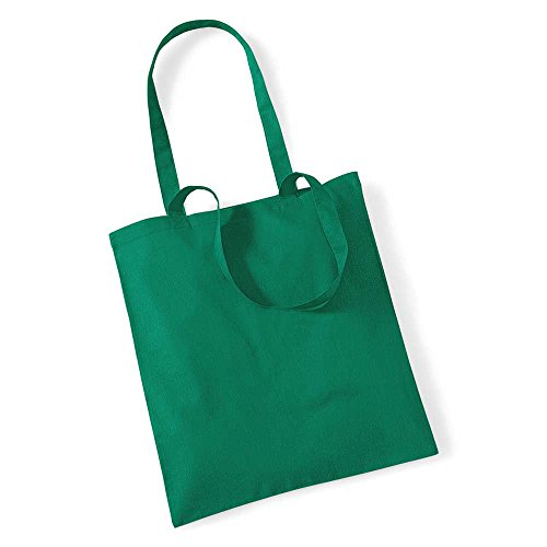 Westford Mill Promo Colours Shopping Bag For Life Kelly Green