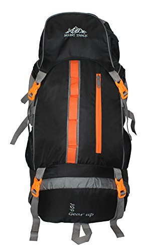 Mount Track Gear Up R05 Rucksack, Hiking Backpack 60 Ltrs with Rain Cover Black