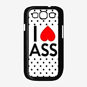 I Love Ass - Phone Case Back Cover (Galaxy S3 - Silicone)