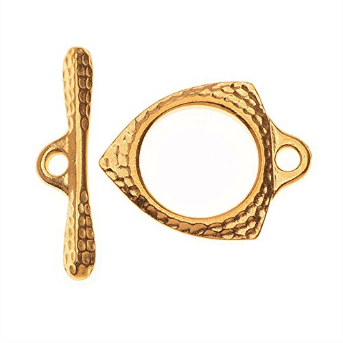 TierraCast Maker's Collection, Forged Toggle Clasp Set, 22K Gold Plated