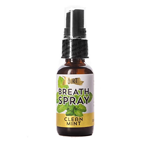 The Dirt All Natural Alcohol Free Clean Mint Breath Spray - 1 Ounce Bottle