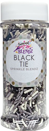 Festival Black Tie Sprinkle Blendz, Assorted Colors, 4.4 oz. Jar