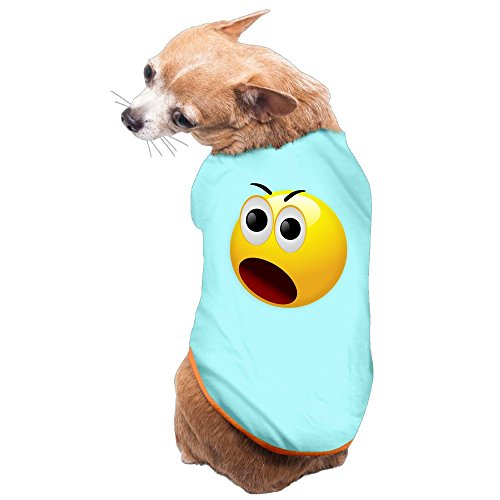 Shepherds Costume Diy (Greenday Amazing Emoji Face Fashion Doggy Pets Costumes Size L SkyBlue)