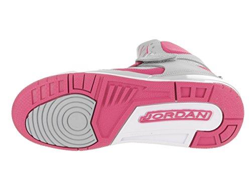 Jordan Nike Børn Flyvning 45 Høj Ip Gg Basketball Sko Ulv Grå / Levende Pink-levende Pink-hvid 5Cd5KqrU85