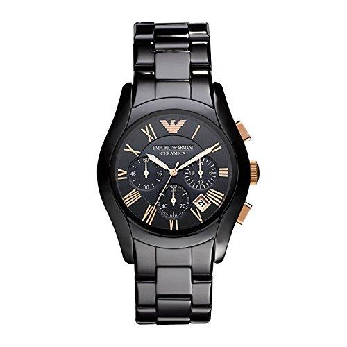 Emporio Armani Men's AR1410 Ceramic Black Chronograph Dial Watch ()