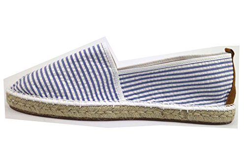 ESCADRILLE Bianco Tessuto Uomo Espadrillas Blu AP723 camoscio rtxCRrqwU