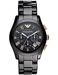 Mens AR1410 Ceramic Black Chronograph Dial Watch