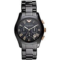 Emporio Armani Men's Swiss Quartz Ceramic Casual Watch, Color:Black (Model: AR1410)