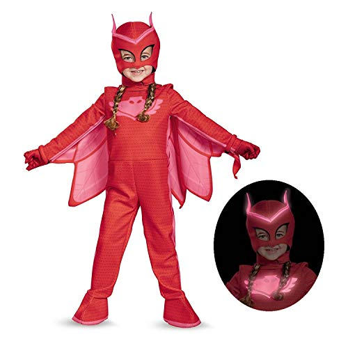 Owlette Deluxe Toddler PJ Masks Jumpsuit with Attached Boot Covers, Medium/3T-4T