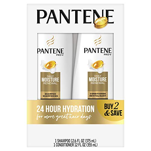 Pantene Pro-V Daily Moisture Renewal Shampoo and Conditioner Bundle (Packaging May Vary)