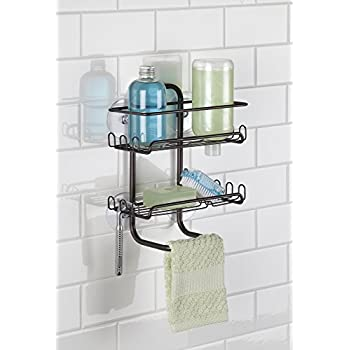 Amazon.com: mDesign Suction Bathroom Shower Caddy, Storage for ...