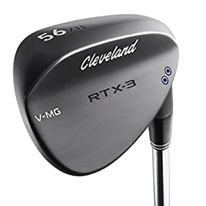 Cleveland Golf RTX-3 Satin Wedge de Golf, Hombre, Negro, 54 ...