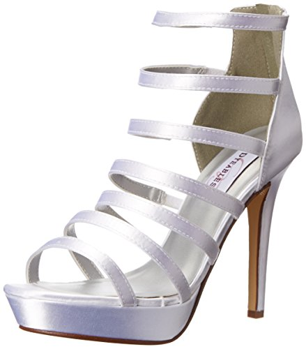Dyeables Inc Women's Lola Platform Sandal - White - 6.5 B...